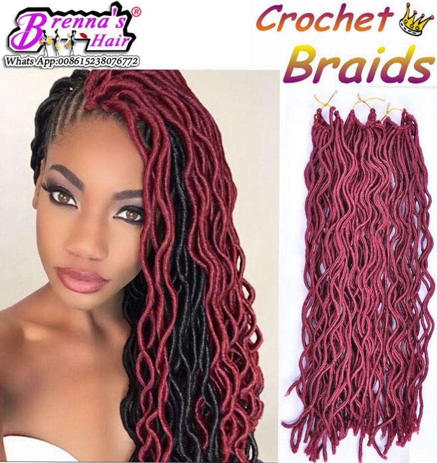 2017 24root curly faux locs crochet braiding hair 12 20soft wavy
