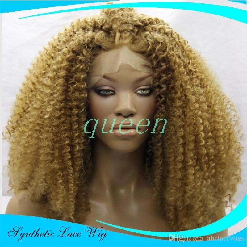 Blonde Lace Front Synthetic Wig Heat Resistant Ombre Long