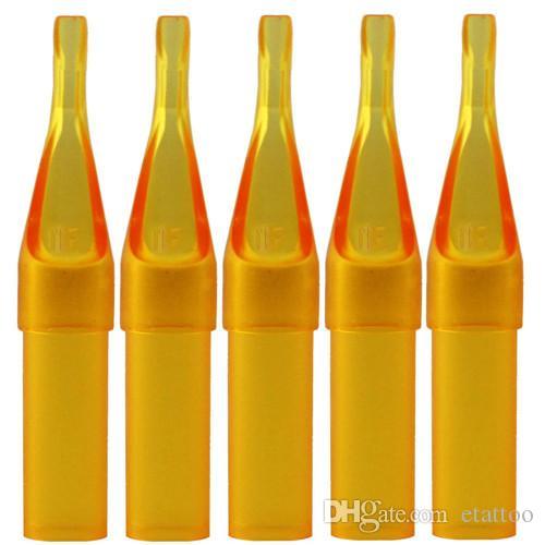 7FT Descartável Bico Tatuagem Amarela Dicas Dicas De Plástico Para Máquina De Tatuagem Abastecimento Frete Grátis