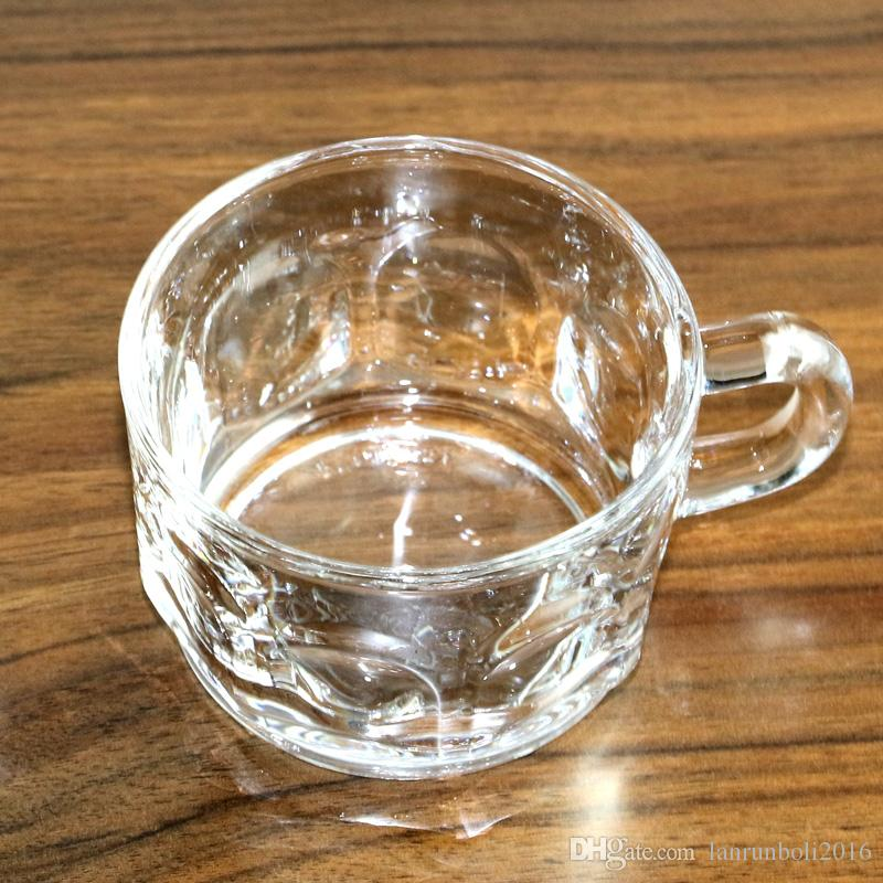 2017 Crystal Glass Coffee Cups Ice Cream Cup Transparent High