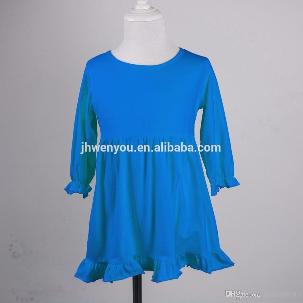 19648786b76d2 Acheter Chine Produire Enfants Vêtements Société Bébé Mode Fille Robe  Conceptions Robe À Volants Rayures De  552.77 Du Dududu7600
