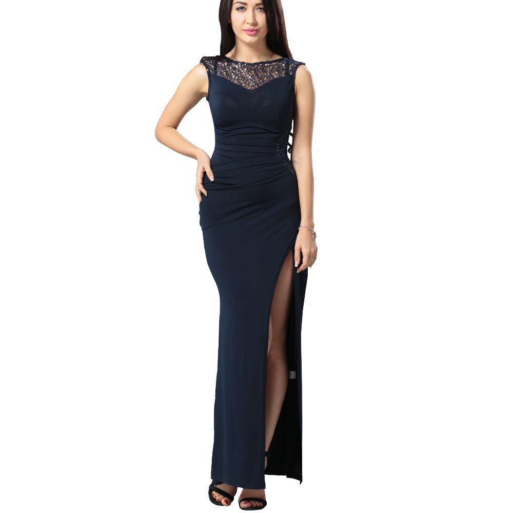 Großhandel 2017 Elegante Party Kleid Damen Sexy Spitze Häkeln ...