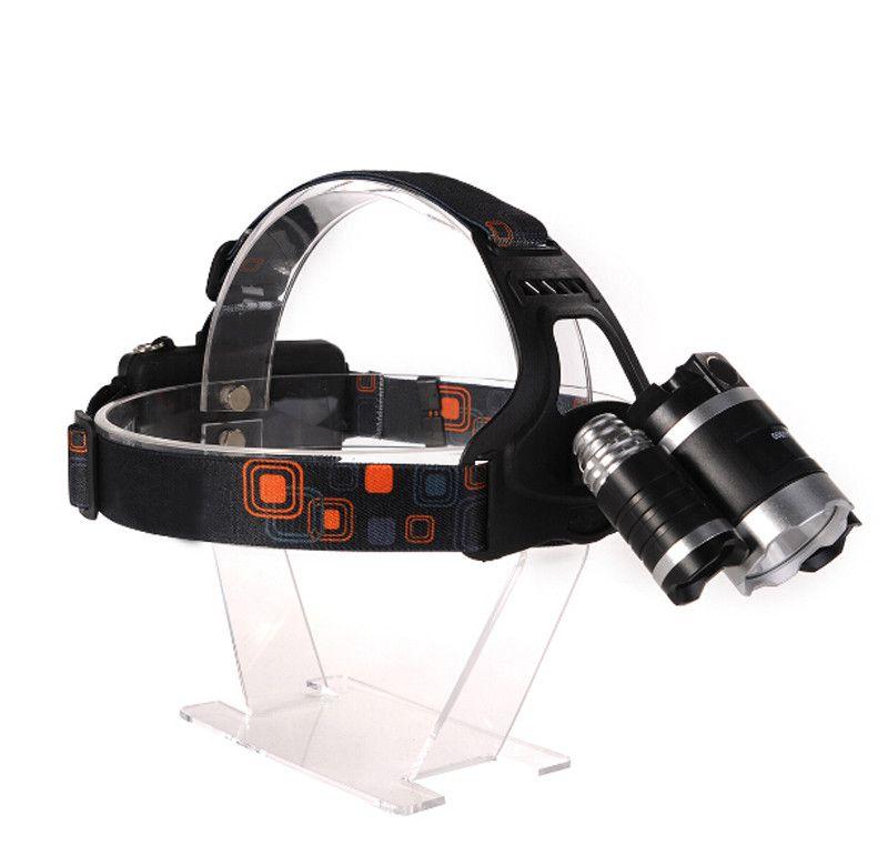 BUROIT RJ-3000 Meilleur C-XM-L T6 8000 Lumen LED Phare Phare Caming Chasse Tête Phare Lampe 4 Modes + 2 * 18650 Batterie + Chargeur Voiture / AC
