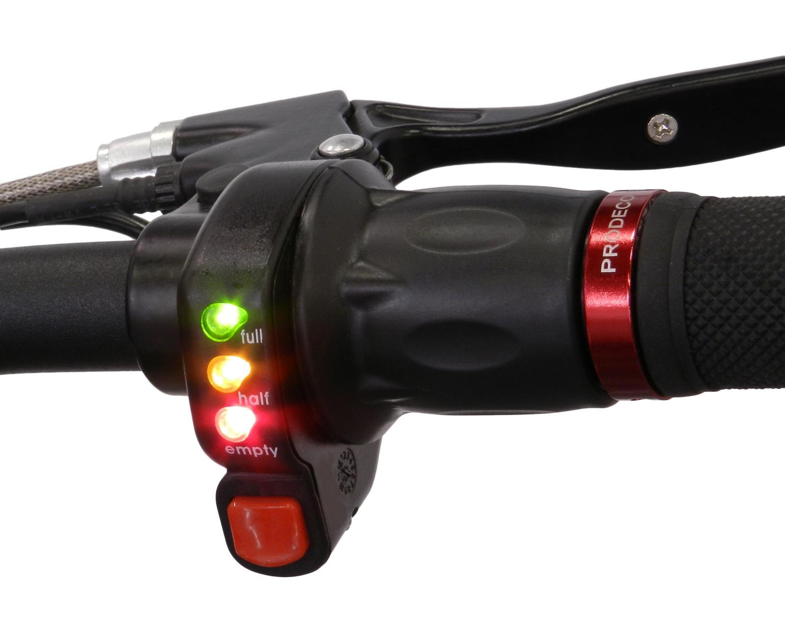 24V / 36V / 48V 전기 자동차 트위스트 스로틀 그립 전원 전압 LED 표시기 E- 자전거 변환 부품 DIY Ebike 속도 컨트롤러