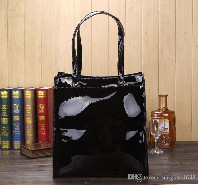 Wholesale-HOT!!Women bags NEW 2015 Women's ajs bag patent leather oil skin PU jelly diamond bag inventory clearance processing