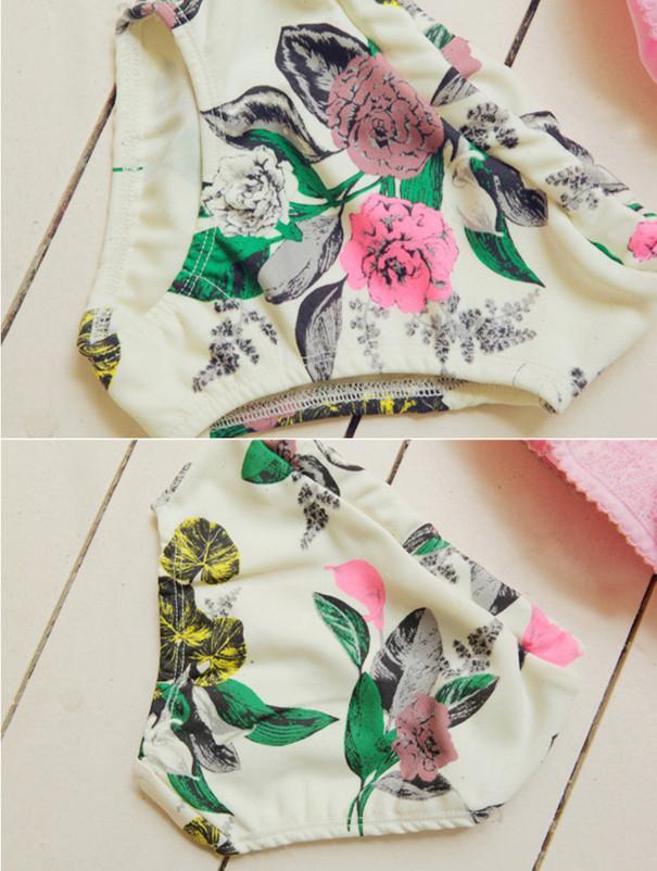 Bebek Kızlar BIKINI 2 adet SET halter boyun Dantel Mayo kızlar için retro prenses Düz renk mayo seti 3-8 T