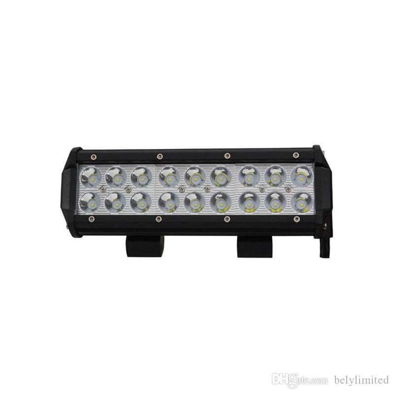 9 inç 54 w led ışık çubuğu offroad ATV SUV çift sıra ile led çalışma lambası LED işık bar