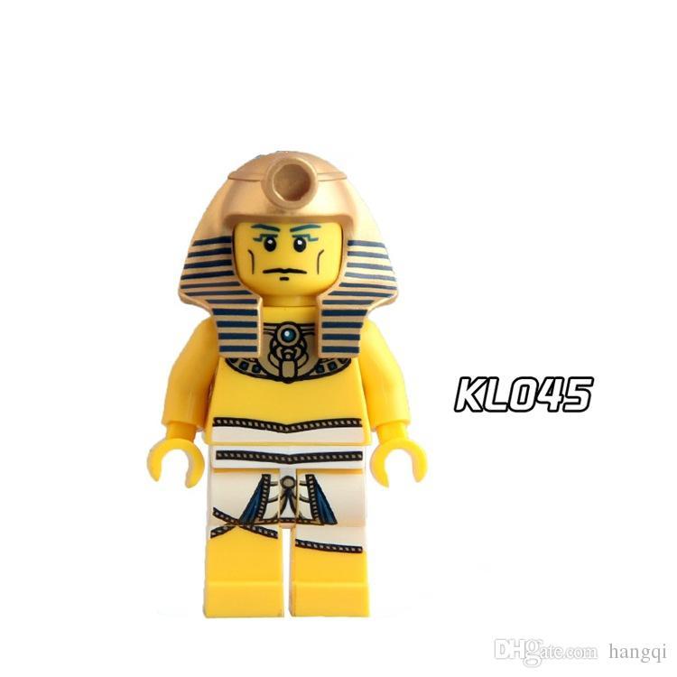 Medieval Egyptian Warrior Pharaoh Atlantis Mummy Barbarian Super Heroes Building Blocks Bricks Best Children Collection Gift Toys KL9007