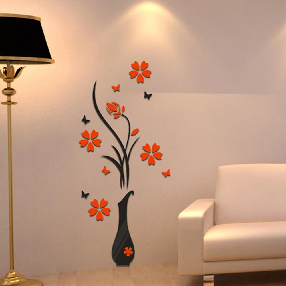 diy wall stickers mirror arcylic mural decor vinyl 3d home office see larger image