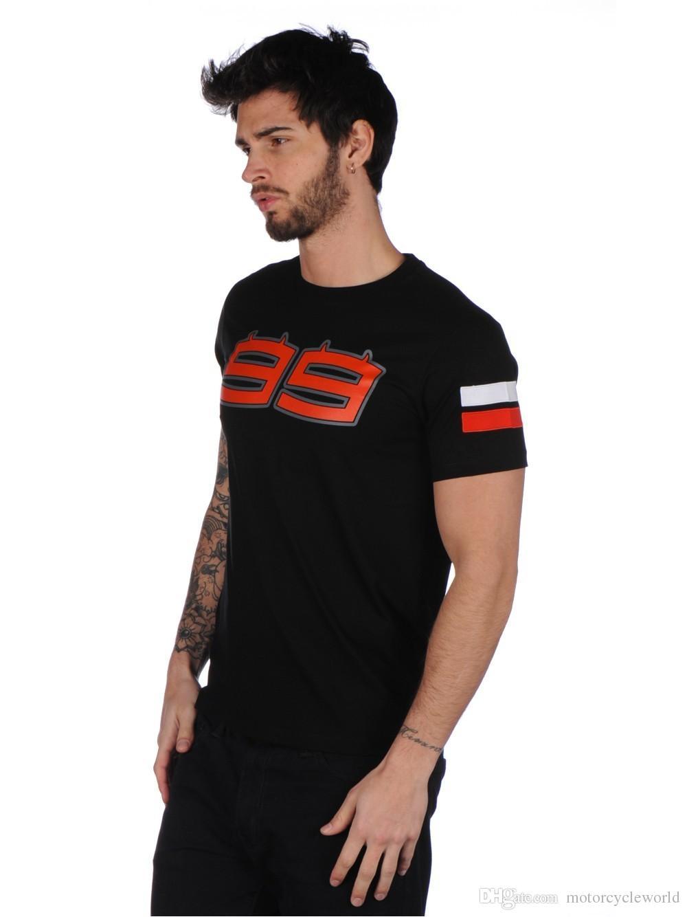 2017 Jorge Lorenzo 99 Moto GP Große Logo T-Shirt Sport Racing Motorrad Herren Schwarz Sommer T-Shirt