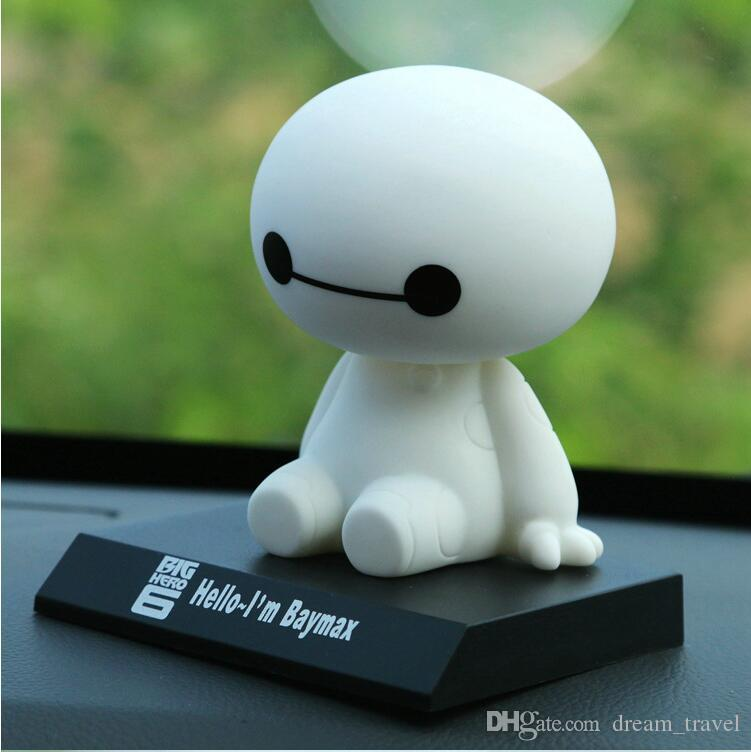 Baymax Robot Bobble Head Toys Car Toys Figure Toy Car Accessories ...