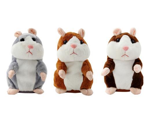 15CM Lovely Talking Hamster Plush Toy Cute Speak Talking Sound Record Hamster Talking Toys for Children sale