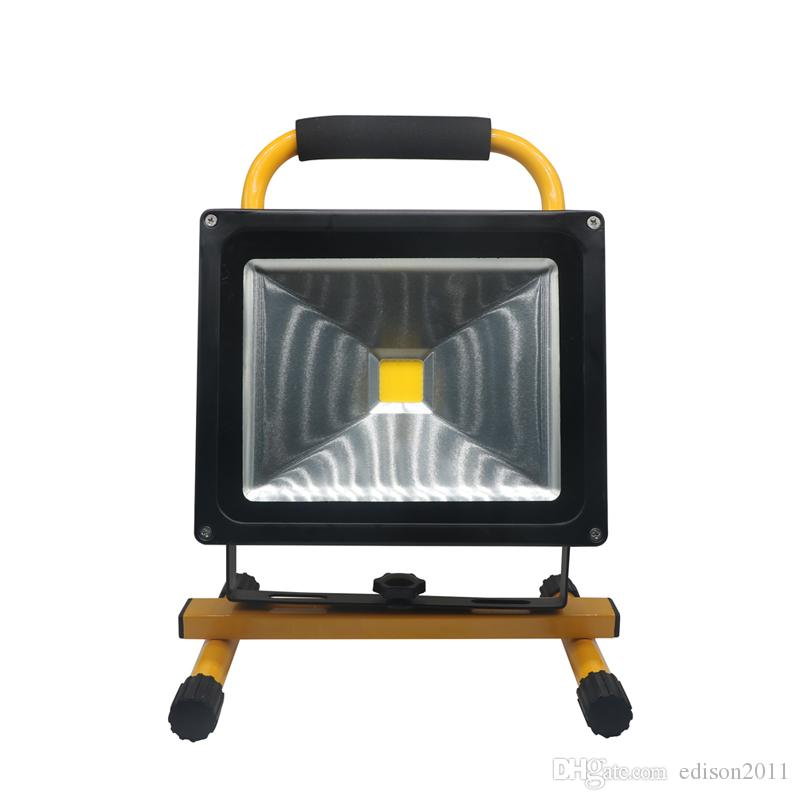 Edison2011 12V LED Light Light 10W 20W 30W 50W Impermeabile IP65 ricaricabile ricaricabile Riflettore portatile Floodlight Lampada da campeggio