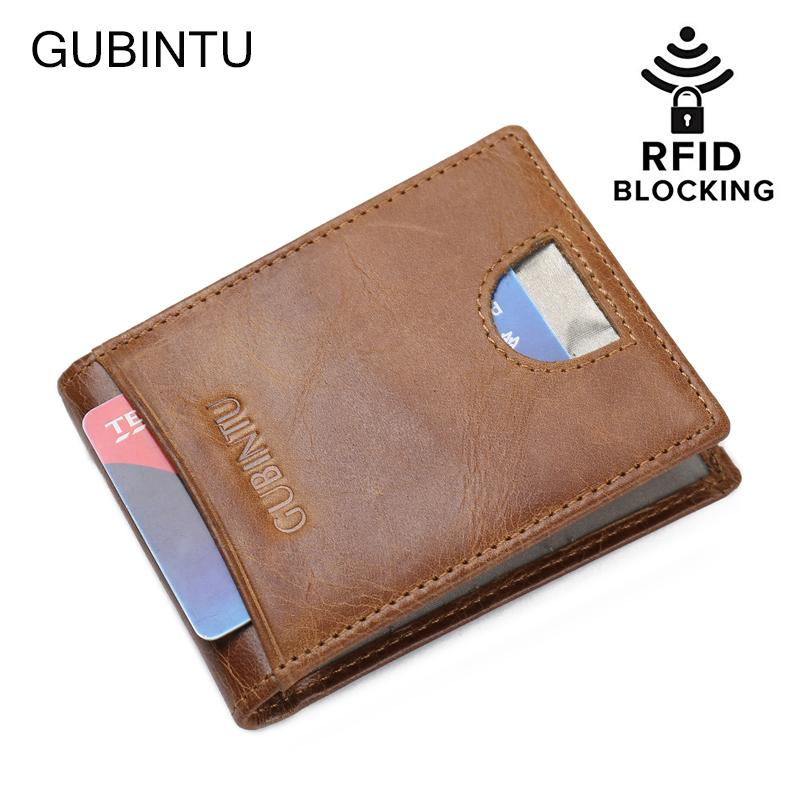 ca112491b6e04d 2019 Rfid Blocking Genuine Leather Slim Minimalist Wallet Front Pocket  Money Clip From Whatless, $41.92 | DHgate.Com