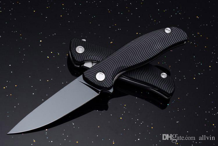 Promotion 4 Style Russia Flipper Knife 440C 58HRC Satin Drop Point Blade G10 Handle EDC Pocket Folding Knives