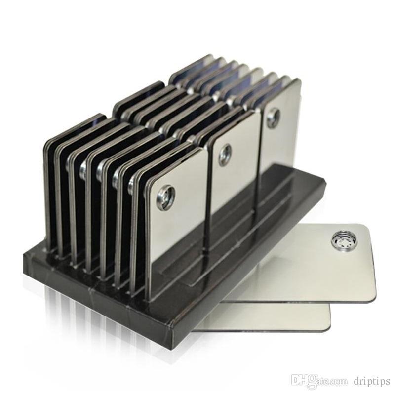 Tuyau de fumer de carte de crédit pour les herbes Tabac cliquez sur le bracelet de vape Accessoires de tabagisme nous avons également le broyeur d'herbe de carte en stock