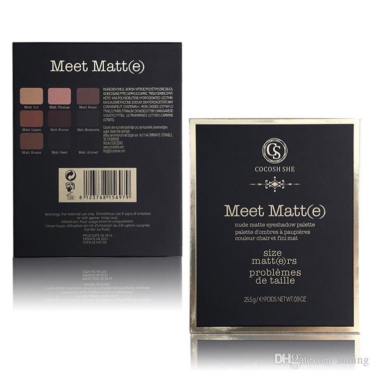 Professional Meet Matte Eye Shadow Palette COCOSH SHE Brand Makeup Set Nude Matte Eyeshadow Palette Make Up Cosmetics
