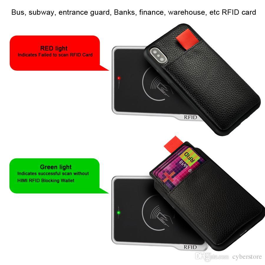 Pour iPhone X XS 7 8 6 Plus Wallet Leather Case antichocs RFID Pochette Pull Up ID carte de crédit Titulaire Téléphone Couverture
