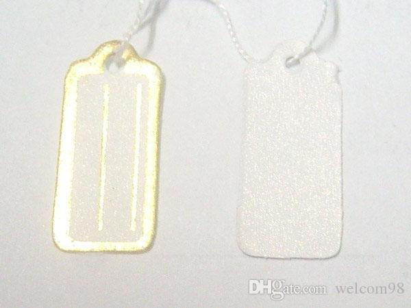 / Papper Etikett Taggar Priskort för smycken Presentförpackning Display 13mmx26mm LA8