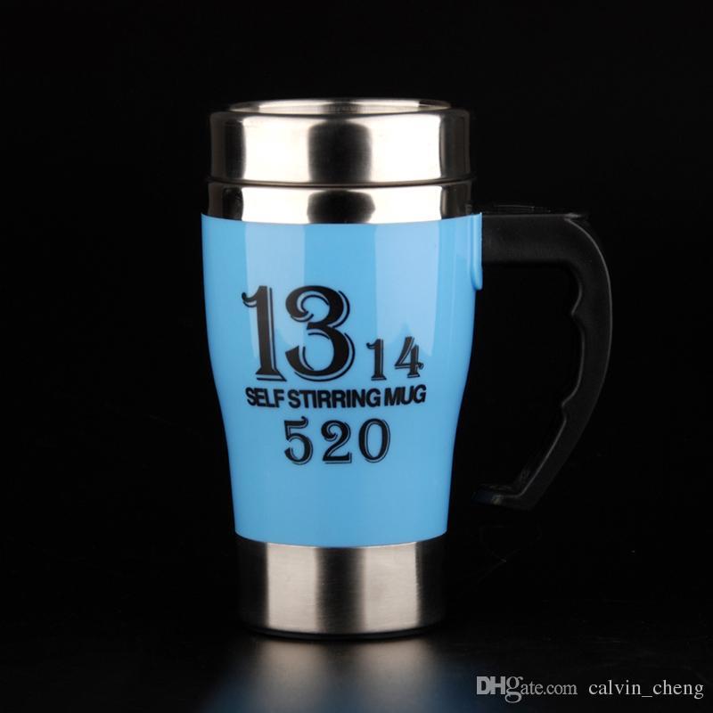 Selbstrührende Schalenlebensmittelrang pp. Bunte Oberflächenedelstahl-selbstrührende Kaffeetasse dhl geben Verschiffen frei