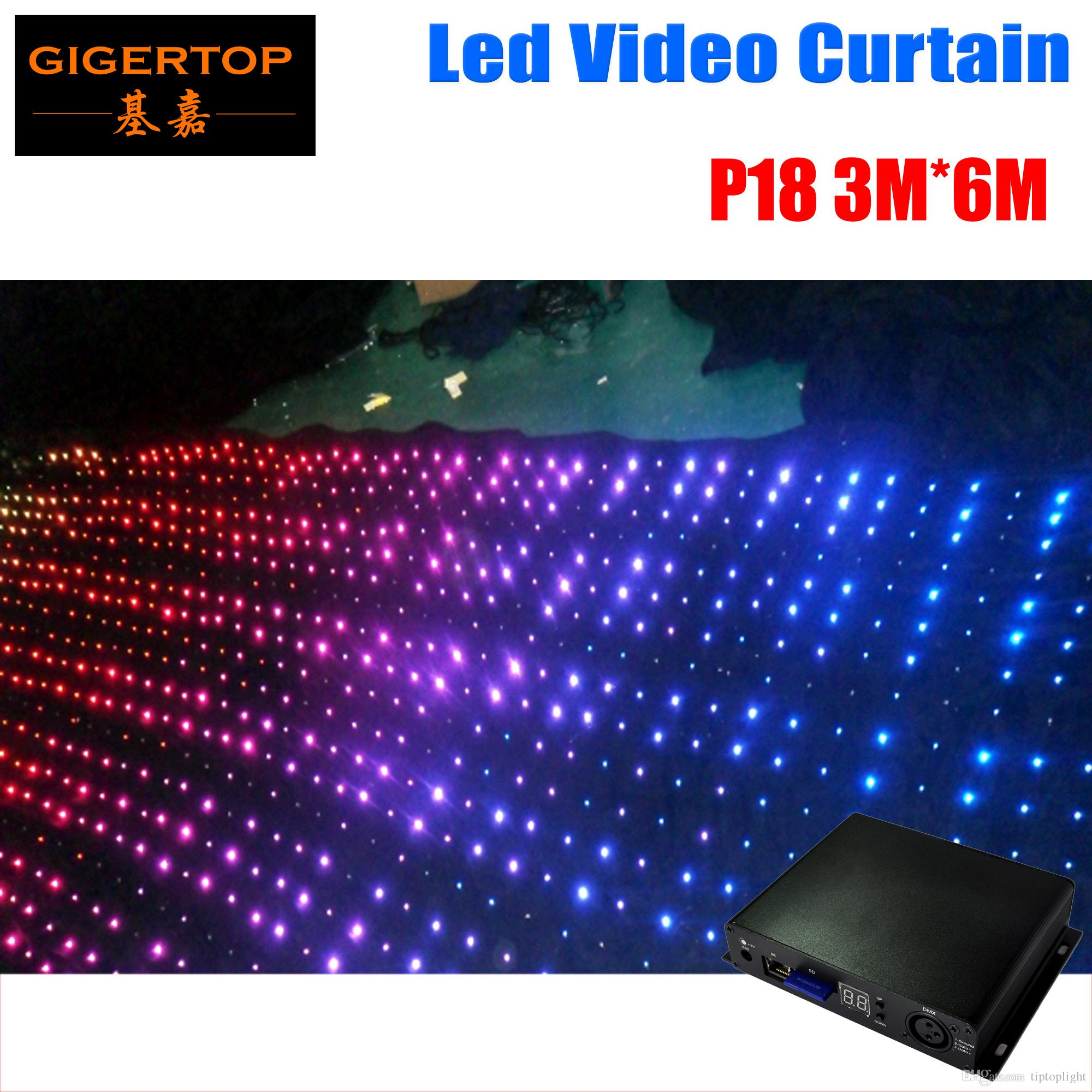 Fire Proof P18 3m*6m Led Video Curtain Mini Curtain Controller For Dj  Wedding Backdrops 90v 240v 4g Program Memory Card Easy Control Led Water  Effect Led ...