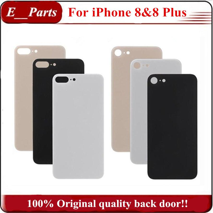 official photos 55589 6fb4c (100% Original) Not Copy ~!!! For iPhone8 & 8 Plus Back Battery Cover Door  Rear Glass housing With Adhesive Sticker Replacement Free DHL