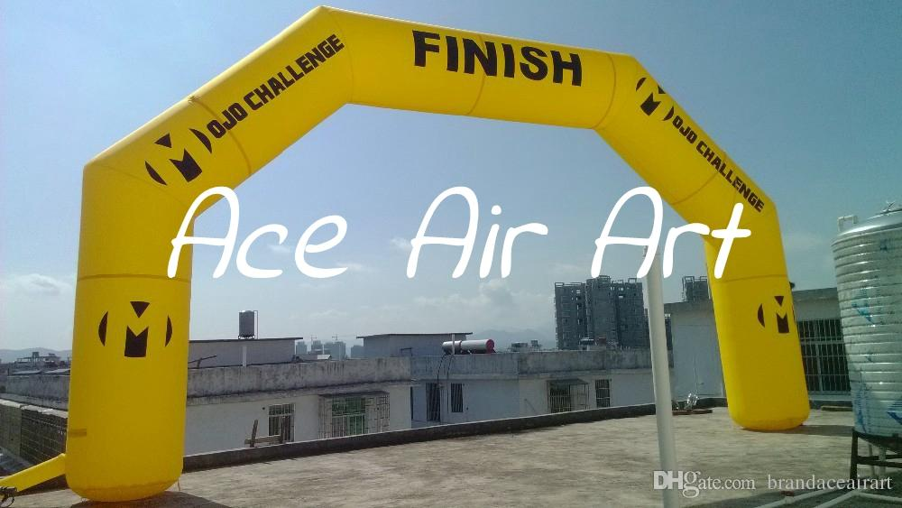 cheapest yellow Inflatable Start Line & Finish Line Arch For Sport Games  Running/Cycling/Triathlon/Duathlon/ Atletiek