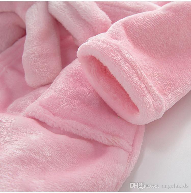 Pyjama bébé animal en peluche peignoir bébé pc 1 garçon fille doux velours robe pyjama enfants de corail habillent vêtements pour bébé