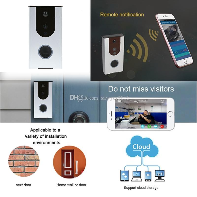 2018 Wireless Video Door Phone Intercom 1.0mp Hd 720p Wifi Doorbell ...