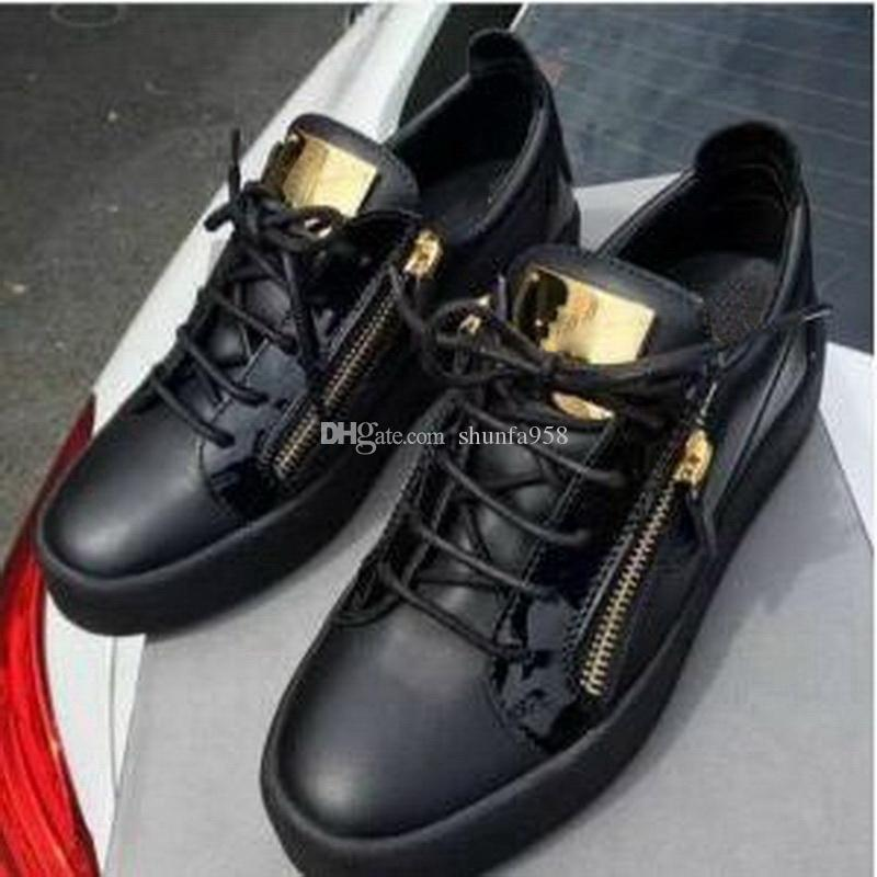 Hot Sales Fashion Brand Shoes Men Women Casual Low Top Black Leather Sports Shoes Double Zipper Flat Men Sneakers Iron Sheets Shoes sale eastbay really cheap online buy cheap fashion Style buy cheap 2014 new C96EjOxG