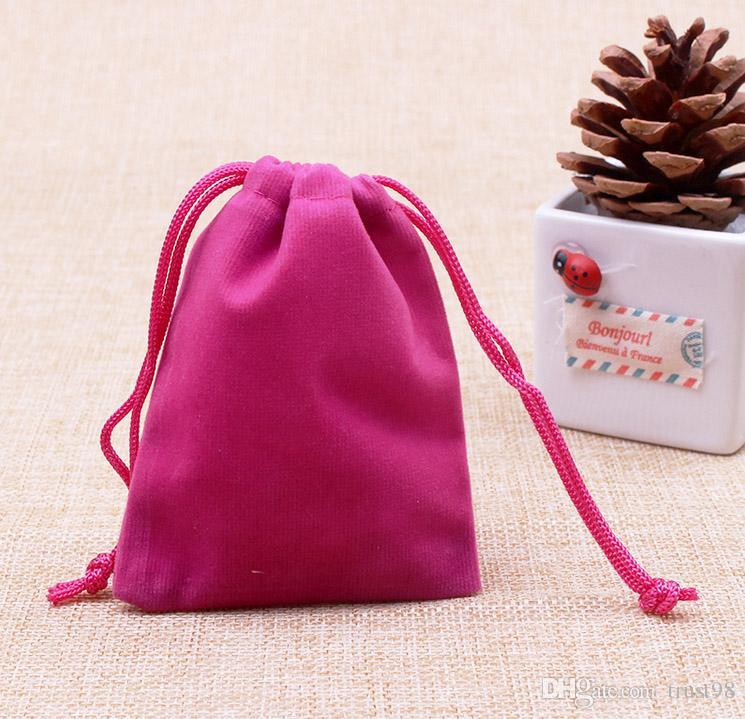 Petit sac à cordon en velours 7x9 cm 2,75 x 3,5 pouces Paquet de 100 anneaux