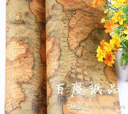Vintage world map gift wrapping paper birthdaywedding favor vintage world map gift wrapping paper birthdaywedding favorchristmasbaby shower gift wrap present box wrap event party supplies 7552cm xmas gift bags gumiabroncs Images