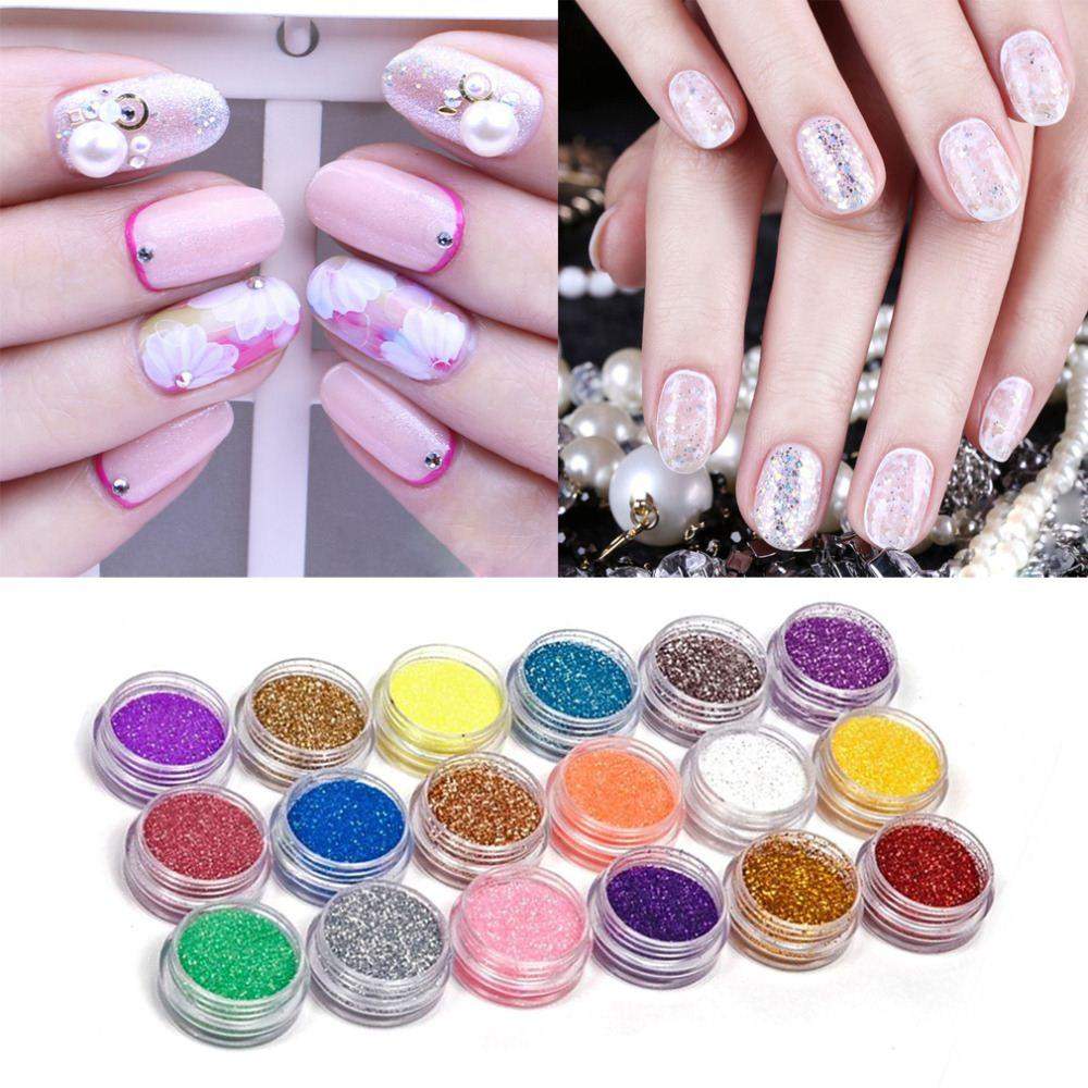 Nail Art Acrylic Glitter Nail Art Tool Kit Acrylic Uv Powder Dust ...