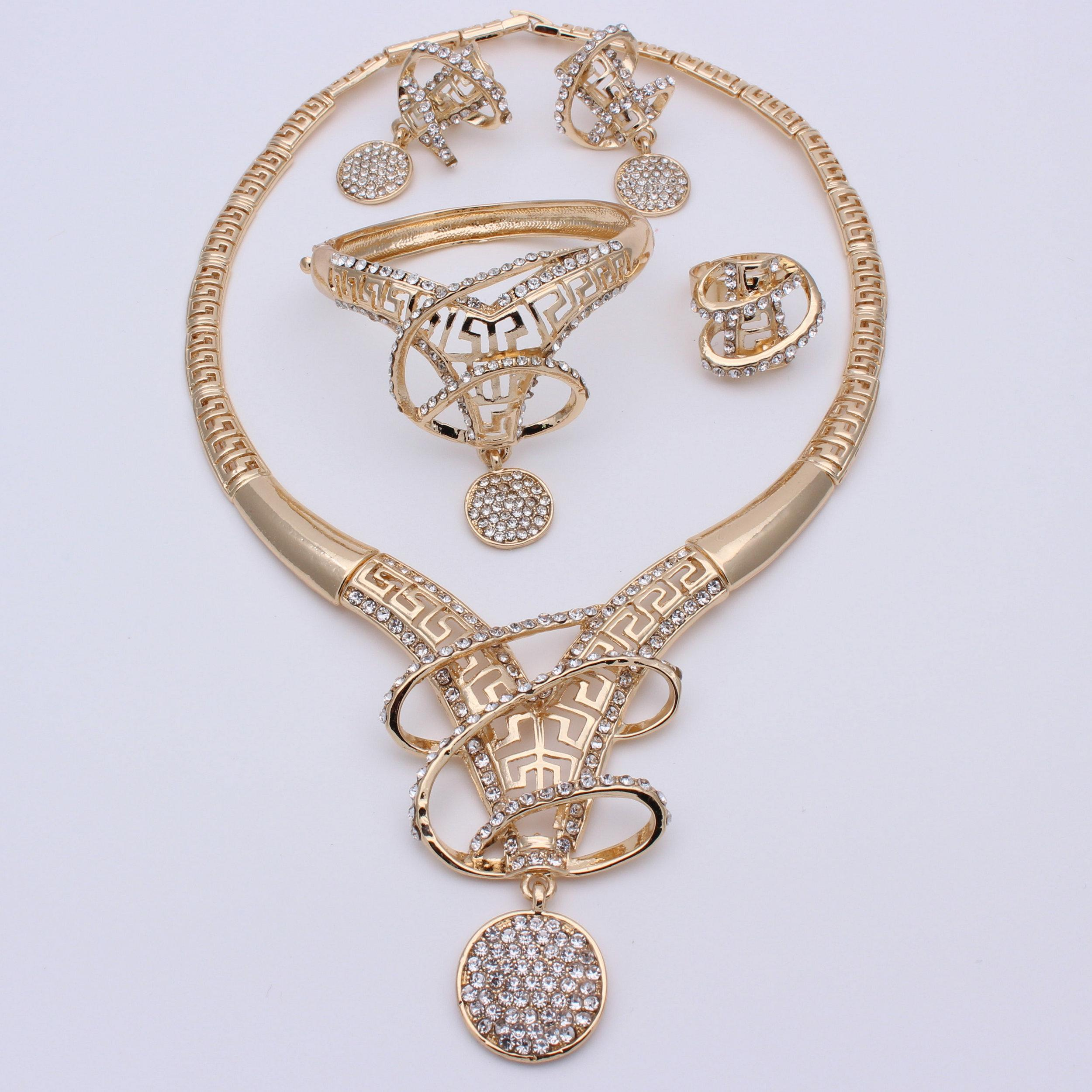 set bridal sokora jewels and product roop crytal clear gold home