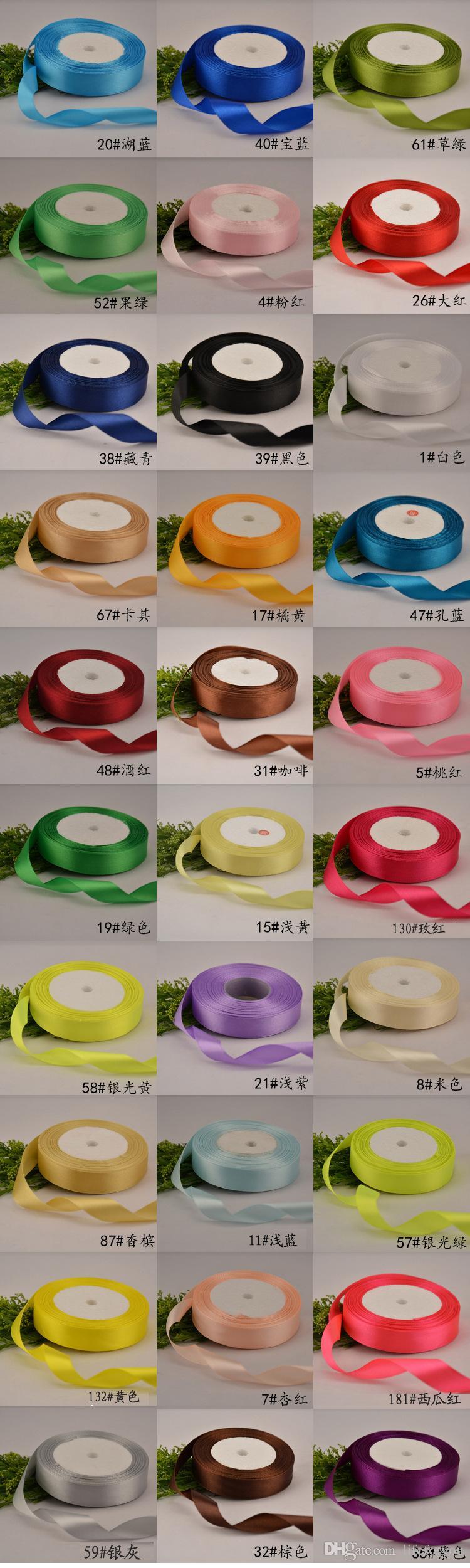 Düğün süslemeleri centerpieces düğün malzemeleri doğum günü partisi düğün aksesuarları hediye paketleme için saten kurdele yay yanadır 1.5 cm * 25Y