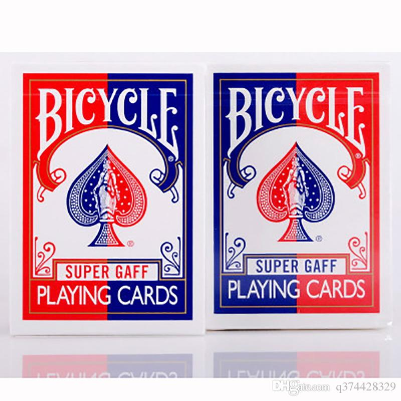 Red/Blue 2015 Bicycle Super Gaff Deck Playing Cards Magic Category Poker  Cards For Professional Magician Hearts Card Game Free Online Card Games  From ...