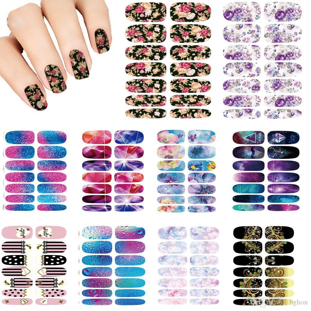 Wholesale Nails Art Flower Mystery Galaxies Design Stickers For ...