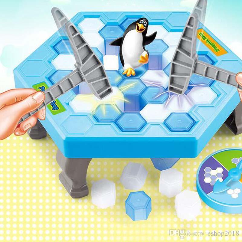 Save the ice penguin puzzle desktop game beating penguin knocking ice cubes toy paternity interactive game