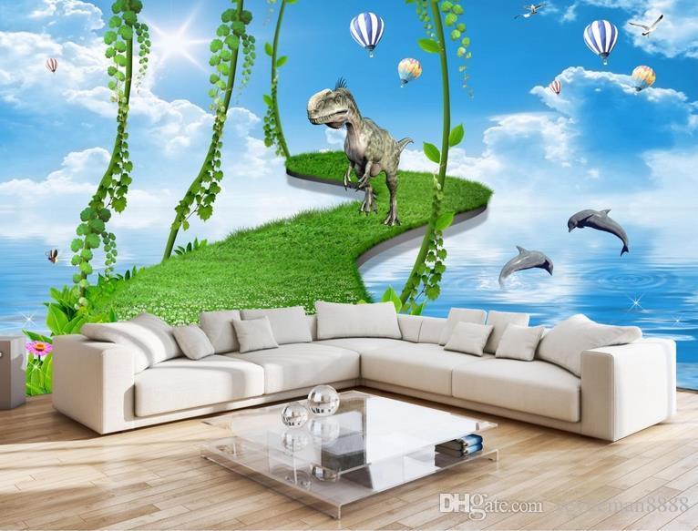 papéis de parede para o quarto da cama personalizado 3d papel de parede sala de estar verde floresta paisagem livre foto papel de parede
