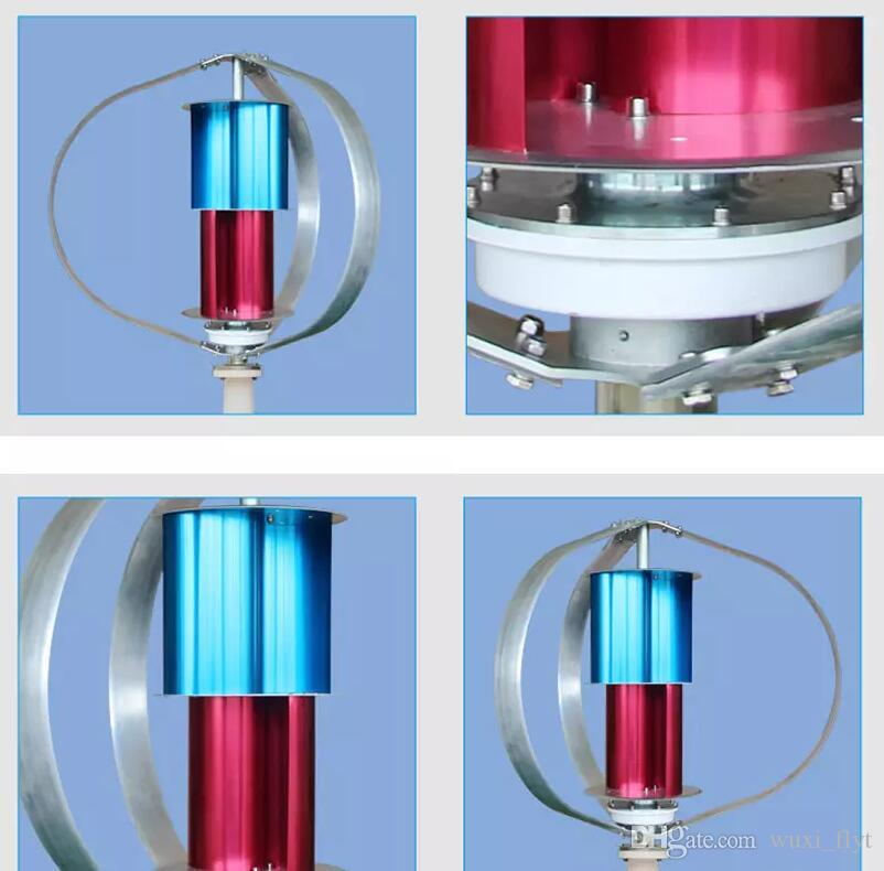 vertical wind turbine generator 200watt 1.5m/s started up with 3 big blades ,designed for wind solar hybrid streetlight use,12v24v AC option