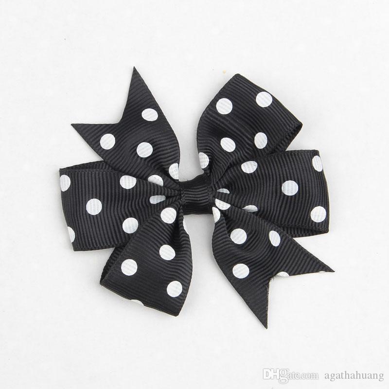Lovely Polka Dots Hairclips for Girl Accesorios para el cabello Fashion Hair Bows Horquillas Baby Popular Bowknots Kids Hair Slides Barrettes