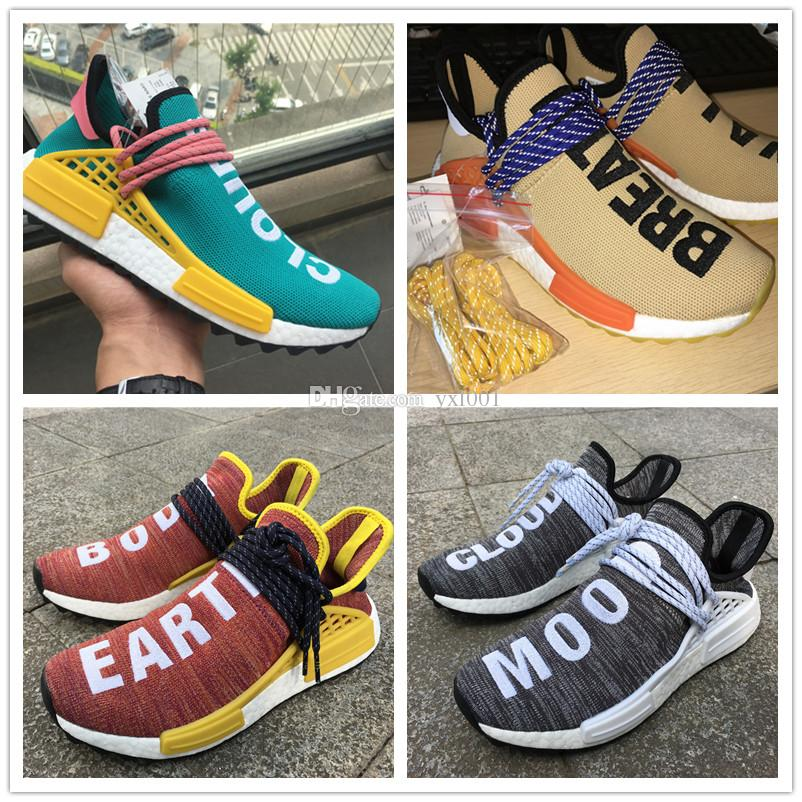 1751a314b With Double Box+Real Lace NMD Pharrell X Williams Human Race Sun Glow Boost  For Basf HU PW AC7359 AC7188 Casual Runner Running Shoes 36 48 Athletic  Shoes ...