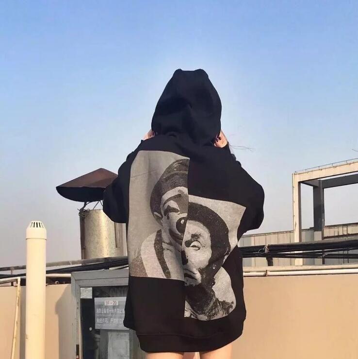 Tide Brand Harajuku Hip-Hop Kanye Westen Skateboard Pullover Patch Clown Hoodie Ärmel Kopf Männer und Frauen Liebhaber Hip Hop Pullover