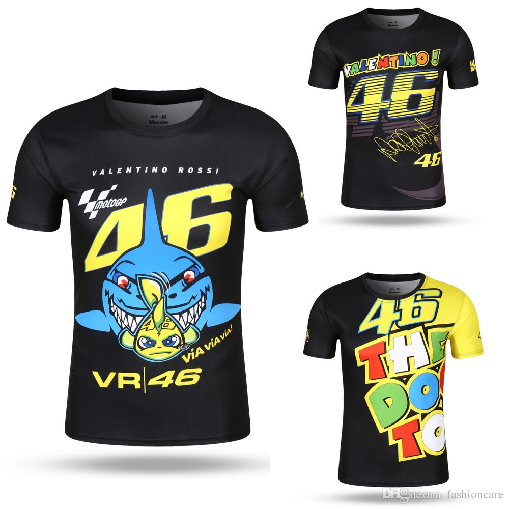 Ckool Tops Valentino Rossi Vr46 46 Tee Shark Motocross Jerseys ...