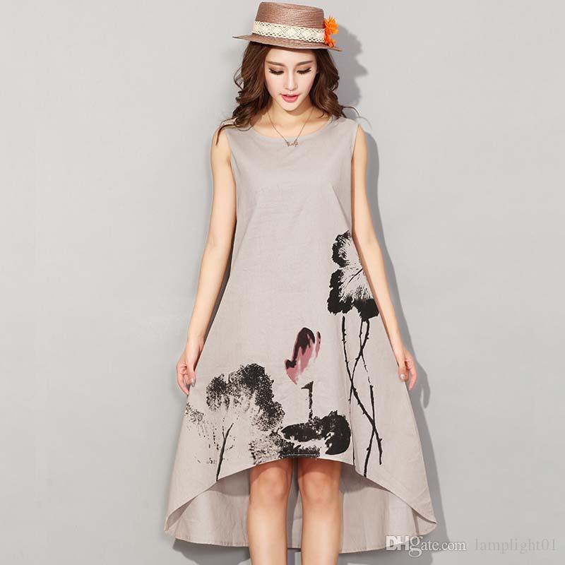 2017 Women\'s Plus Size Dress Casual House Style Hit Color Plaid Long ...