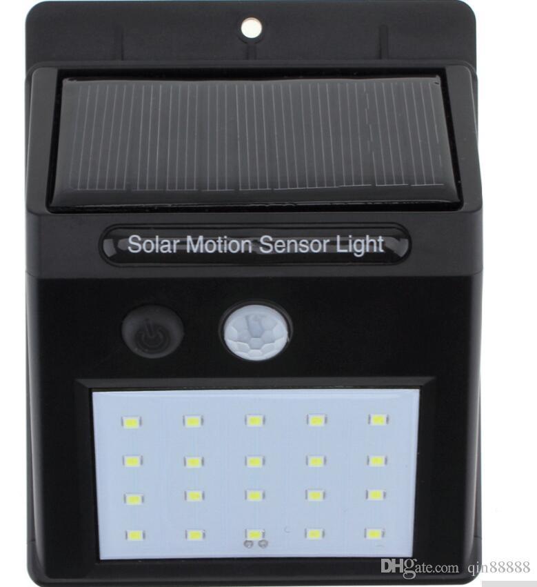 Capteur solaire à LED infrarouge lumière du corps humain Mouvement induction lampe extérieure Voie d'urgence Lampe de sécurité Jardin Lumière solaire