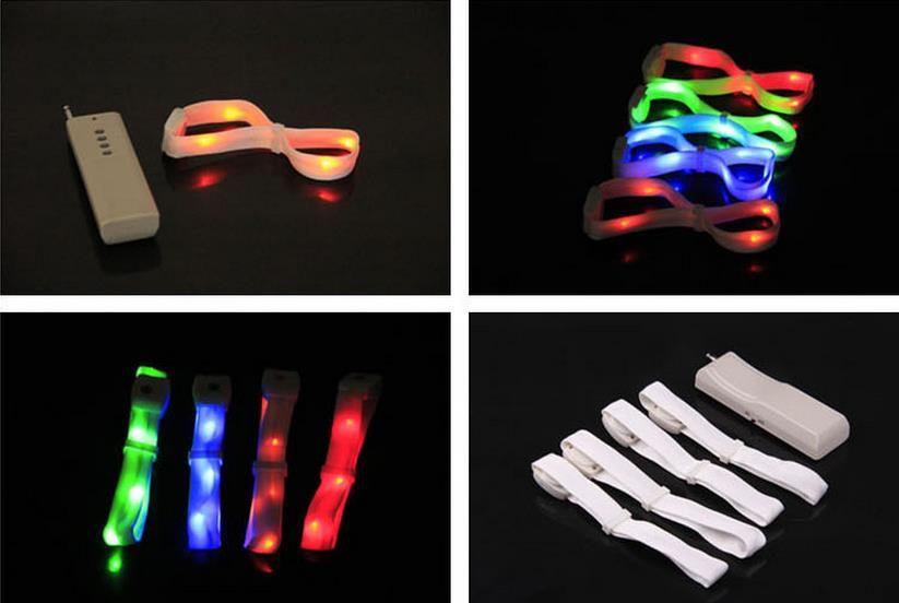 Remote Control Glowing Led Bracelet Wristbands Strap Bracelet Nylon Bangles Bracelets for Party Event Decor