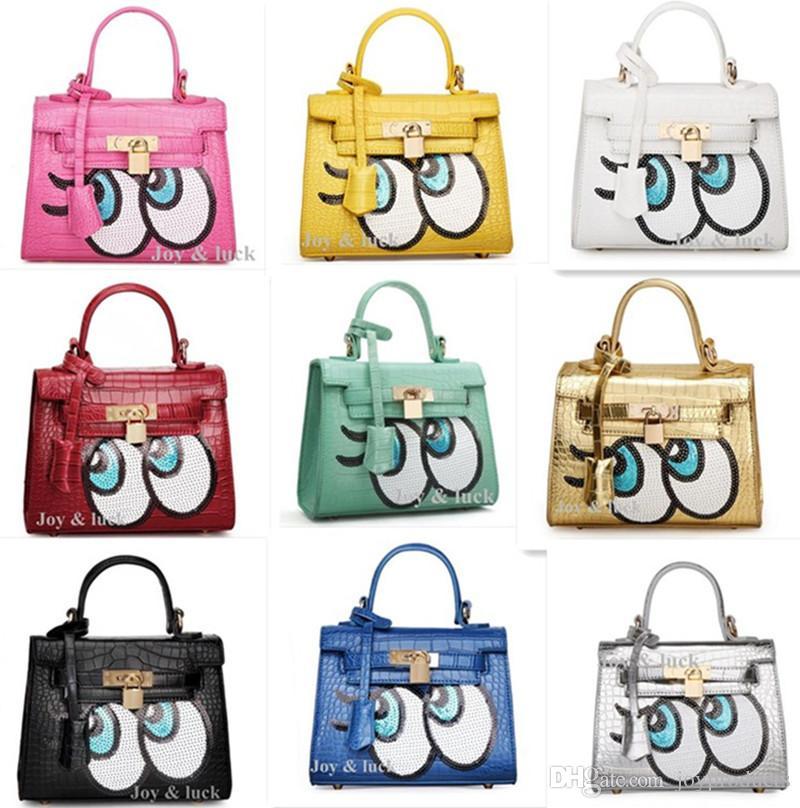 Womens Leather Cartoon Handbags Fashion Black Color Cute Shoulder - Cartoon handbags