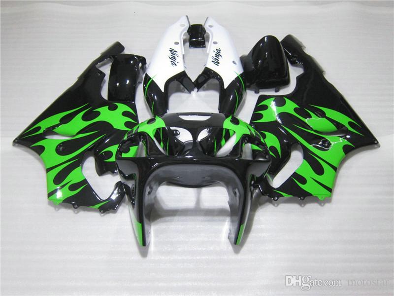 High quality Fairing kit for Kawasaki Ninja ZX7R 96 97 98 99 00-03 green black white fairings set ZX7R 1996-2003 OY10