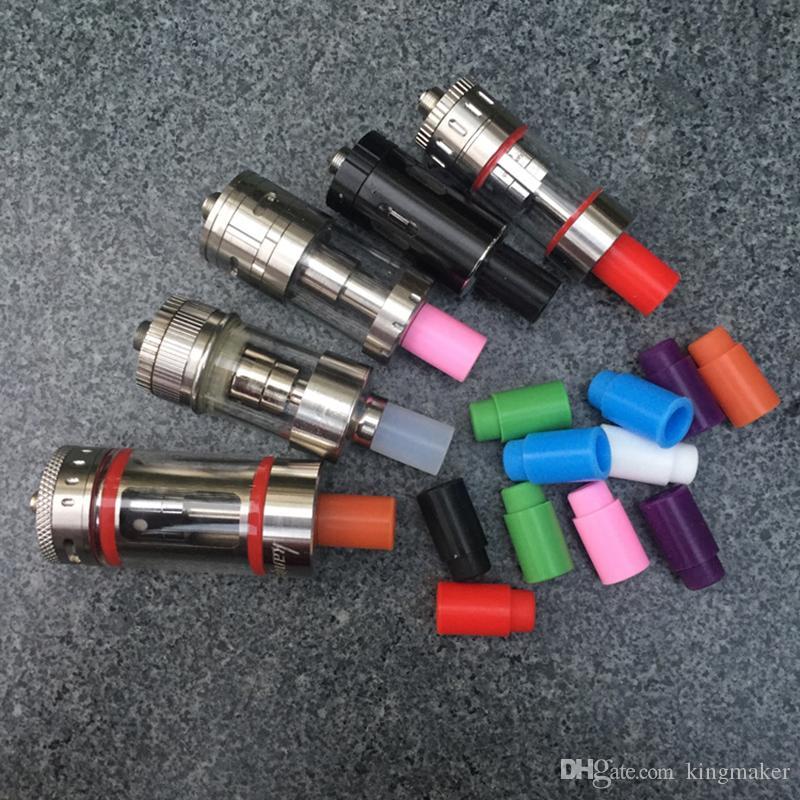 Puntali antigoccia monouso vaporizzatore 510 Coperchio bocchino in silicone Punta test in gomma Punta gocciolamento in silicone test di adattamento Sottotank Mini